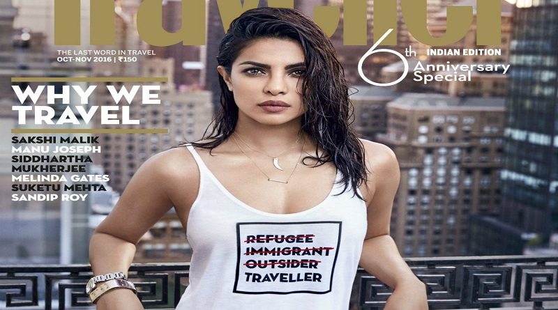 Condé Nast Traveller Priyanka T shirt message offensive