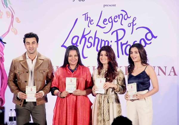 twinkle khanna, alia bhatt and ranbir on book launch