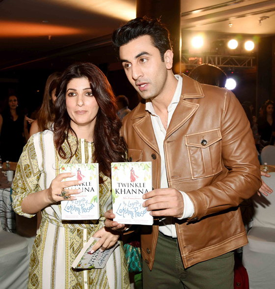 twinkle khanna and ranbir kapoor on book launch